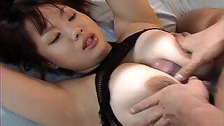 Ugly Japanese whore Sakura Kawamine getting facefucked
