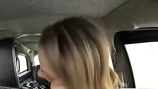 Mature milf in lingerie boned by fake driver in the cab