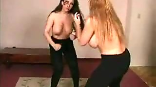 Bare Knuckle Busty Catfight