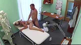 Tattooed pierced patient pounded by doctor