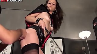 Mistress Larissa goes tough on her subs
