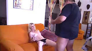 Grandfather call blonde escort for unusual sex