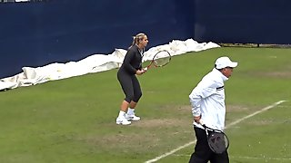 Sabine Lisicki Training In Legging