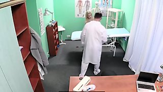 Young euro patient rides doctors cock