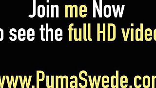 Euro Milf Puma Swede Sucks & Fucks a LezB Friend in Bed!