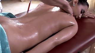 Busty Isis Love fucks her blind masseur