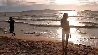 Nina Isabella at the beach