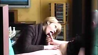 Amateur blonde milf blowjob