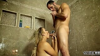 Blonde Cougar gets Dirty in the Shower