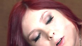 Ass gaping redhead anally pounded hard