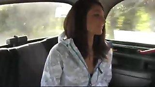 Woman fucks taxi driver and policeman