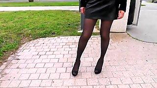 Sexy girl on street