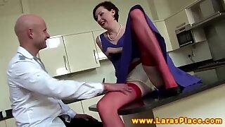 Brit mature in stockings facesitting