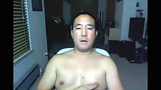Asian Daddy on webcam again