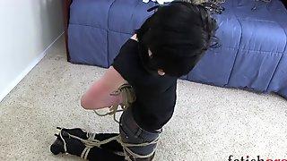 Rope bondage escape struggle