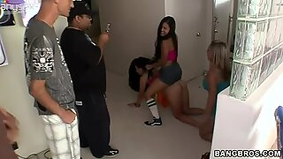 Bunch of chubby hoes Angelina Stoli, Ashli Orion and Allie Foster fucking hard