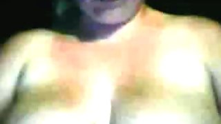 Hot girl plays with big boobs
