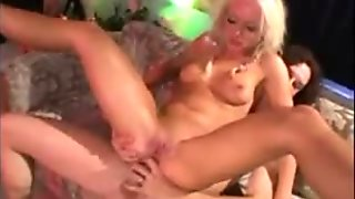 Blonde double anal