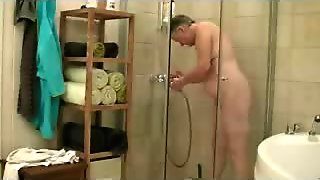 Mother in shower