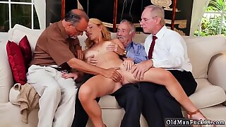 Skinny old man with big cock and hairy grandma fucking Frannkie And The Gang Tag Team A