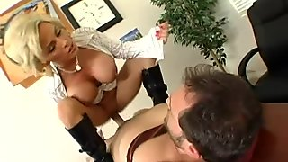 Blonde busty milf getting her pussy fucked hard