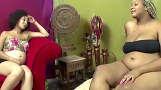 Pregnant ebony lesbian women are extremely horny