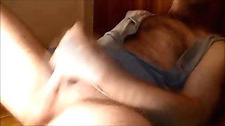 hairy mature wank (with sweet nipple)