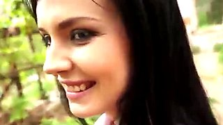 Pretty eurobabe Timea analed and facial