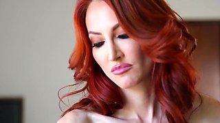 Redhead milf seducing stepdaughters pussy