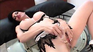 Big boobs brunette milf get off with huge vibrator
