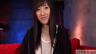 Japanese Azusa Nagasawa fishnet interview subtitle