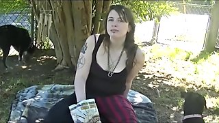 Belly Stuffing, Massage, Outside, Girl, Commission