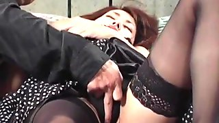 Jun Nada in stockings and with hot ass is screwed more and m