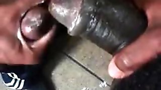 2 Black Dudes Jacking Outside