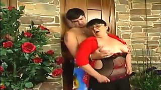Young boy fucks mother in their ass