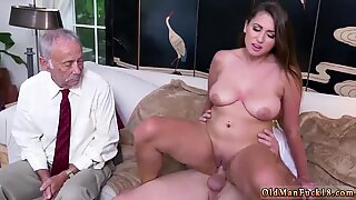 Japan old man and young girl Ivy impresses with her meaty funbags and ass - Ivy Young
