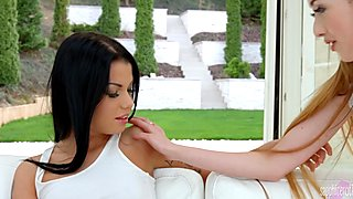 Sofia Like and Empera from Sapphic Erotica hot lesbian