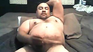 Chunky latrin bald  cumming hard
