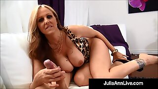 Hot World Famous Cougar Julia Ann Gets A Warm Load Of Cum On Her Boobs!