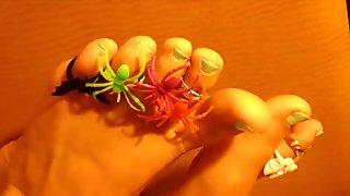 Halloween Feet Soles & Toe Rings