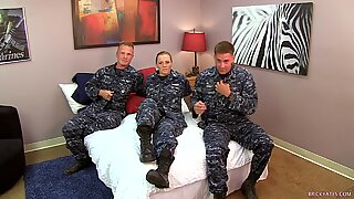 beautiful Navy Petty Officer smashes her Sailors