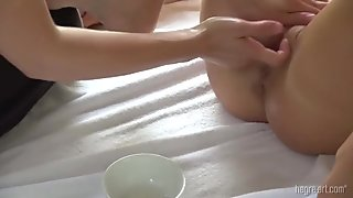 Oily Massage with Real Orgasm